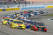 Monster Energy NASCAR Cup Series<br /> Pennzoil 400<br /> Las Vegas Motor Speedway, Las Vegas, NV USA<br /> Sunday 4 March 2018<br /> Joey Logano, Team Penske, Ford Fusion Pennzoil and Martin Truex Jr., Furniture Row Racing, Toyota Camry Bass Pro Shops/5-hour ENERGY<br /> World Copyright: Russell LaBounty<br /> NKP / LAT Images