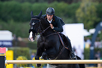 3rd October 2021;  Real Club de Polo, Barcelona, Spain; CSIO5 Longines FEI Jumping Nations Cup Final 2021; Sergio Alvarez Moya from Spain during the FEI Jumping Nations Cup Final 2021