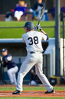 TD Davis (38) of the Georgia Southern Eagles at bat against the UNCG Spartans at UNCG Baseball Stadium on March 29, 2013 in Greensboro, North Carolina.  The Spartans defeated the Eagles 5-4.  (Brian Westerholt/Four Seam Images)