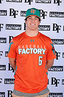 Zachary Morris (6) of St. Joseph High School in Santa Maria, California during the Baseball Factory All-America Pre-Season Tournament, powered by Under Armour, on January 12, 2018 at Sloan Park Complex in Mesa, Arizona.  (Mike Janes/Four Seam Images)