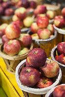 Amérique/Amérique du Nord/Canada/Québec/Montréal: Etal de pommes de variétés locales au Marché Jean Talon