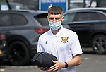 St Johnstone v Fleetwood Town…24.07.21  McDiarmid Park<br />Jordan Northcott arrives at McDiarmid Park ahead of today's pre-season friendly against Fleetwood Town<br />Picture by Graeme Hart.<br />Copyright Perthshire Picture Agency<br />Tel: 01738 623350  Mobile: 07990 594431