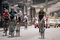 Roman Kreuziger (CZE/Michelton-Scott) trying to break free up the Saint-Nicolas<br /> <br /> 104th Liège - Bastogne - Liège 2018 (1.UWT)<br /> 1 Day Race: Liège - Ans (258km)
