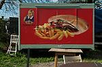 Ebbsfleet Kent UK. Snack bar, a new garden city to be built here. 2014.
