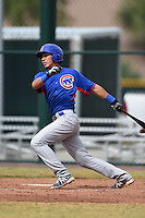 Chicago Cubs designated hitter Jhonny Pereda (88) during an Instructional League intersquad game on October 9, 2014 at Cubs Park Complex in Mesa, Arizona.  (Mike Janes/Four Seam Images)