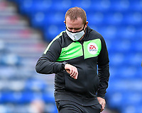 Referee Lee Swabey checks his watch before kick off during Portsmouth vs MK Dons, Sky Bet EFL League 1 Football at Fratton Park on 10th October 2020