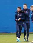 16.01.2020 Rangers training: Jordan Jones and George Edmundson