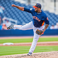 1 March 2017: Houston Astros pitcher Francis Martes on the mound during Spring Training action against the Miami Marlins at the Ballpark of the Palm Beaches in West Palm Beach, Florida. The Marlins defeated the Astros 9-5 in Grapefruit League play. Mandatory Credit: Ed Wolfstein Photo *** RAW (NEF) Image File Available ***