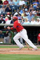 Philadelphia Phillies Ryan Howard (6) during a Spring Training game against the New York Yankees on March 27, 2015 at Bright House Field in Clearwater, Florida.  New York defeated Philadelphia 10-0.  (Mike Janes/Four Seam Images)