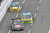#4: Todd Gilliland, Kyle Busch Motorsports, Toyota Tundra JBL/SiriusXM, #88: Matt Crafton, ThorSport Racing, Ford F-150 Chi-Chis/Menards, #98: Grant Enfinger, ThorSport Racing, Ford F-150 Protect the Harvest
