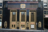 Philadelphia: Pennsylvania R.R. Suburban Station, 1932. J.F. K. Blvd. & 16th. Art Deco Classic! Graham, Anderson, Probst & White; Stewart, Joseph, & Co.Photo '91.