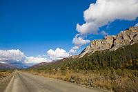 James dalton highway in the Brooks Range, Arctic Alaska.