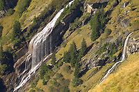 Waterfall on the  high Alpine pastures from First - Grindelwald Switzerland