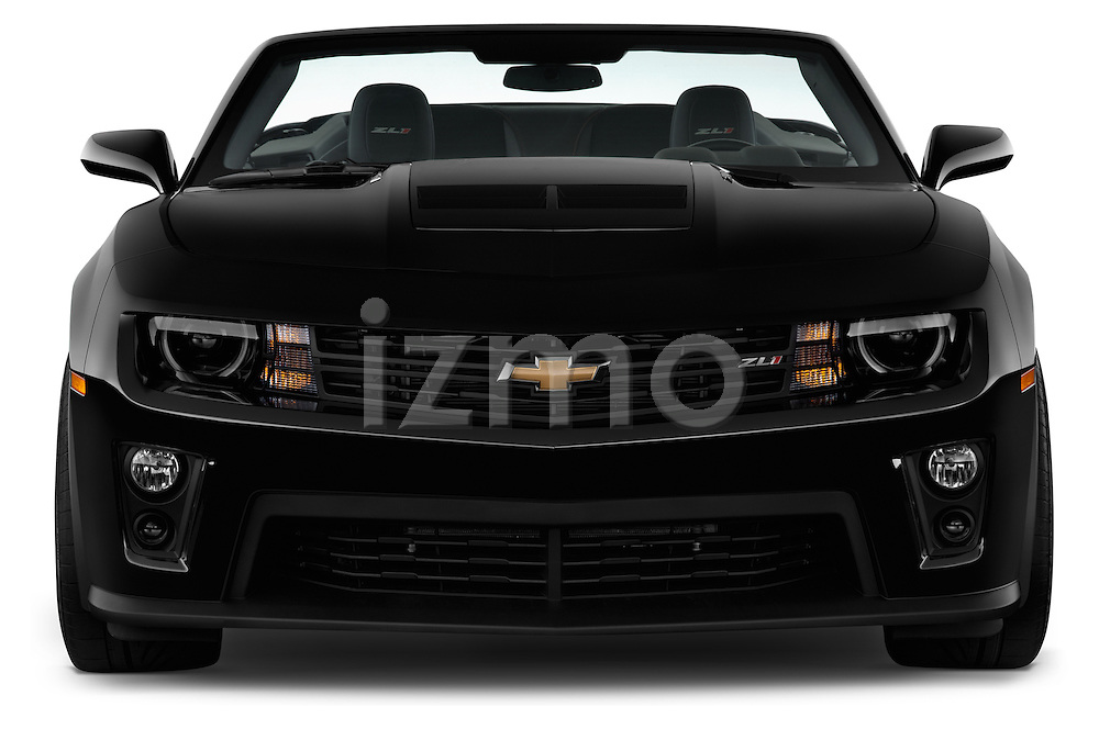 Straight front view of a 2013 Chevrolet Camaro Convertible ZL1 5a