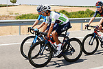 Miguel Angel Lopez Moreno (COL) Movistar Team and White Jersey Egan Bernal (COL) Ineos Grenadiers chat during Stage 5 of La Vuelta d'Espana 2021, running 184.4km from Tarancón to Albacete, Spain. 18th August 2021.    <br /> Picture: Luis Angel Gomez/Photogomezsport   Cyclefile<br /> <br /> All photos usage must carry mandatory copyright credit (© Cyclefile   Luis Angel Gomez/Photogomezsport)