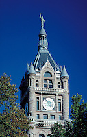 City-County Office Building with clock. government offices, ornamental architecture. Salt Lake City Utah.