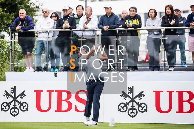 Rattanon Wannasrichan of Thailand tees off during the day three of UBS Hong Kong Open 2017 at the Hong Kong Golf Club on 25 November 2017, in Hong Kong, Hong Kong. Photo by Yu Chun Christopher Wong / Power Sport Images