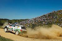 Sepp Wiegand and Frank Christian, Skoda Fabia S2000 of SKODA AUT0 DEUTSCHLAND during WRC Vodafone Rally de Portugal 2013, in Algarve, Portugal on April 13, 2013 (Photo Credits: Paulo Oliveira/DPI/NortePhoto)
