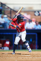 New Hampshire Fisher Cats second baseman Jorge Flores (6) at bat during a game against the Reading Fightin Phils on June 6, 2016 at FirstEnergy Stadium in Reading, Pennsylvania.  Reading defeated New Hampshire 2-1.  (Mike Janes/Four Seam Images)