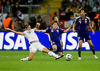 Alex Morgan, Mizuho Sakaguchi.  Japan won the FIFA Women's World Cup on penalty kicks after tying the United States, 2-2, in extra time at FIFA Women's World Cup Stadium in Frankfurt Germany.