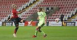 Lauren James of Manchester United Women has a shot on goal