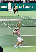 10-02-13, Tennis, Rotterdam, qualification ABNAMROWTT, Jesse Huta Galung   Matteo Viola   Tobios Kampke   Ernest Gulbis