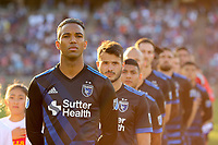 Stanford, CA - Saturday June 30, 2018: San Jose Earthquakes pre-game prior to a Major League Soccer (MLS) match between the San Jose Earthquakes and the LA Galaxy at Stanford Stadium.