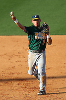 Siena Saints infielder William Cardona #12 during a game against the UCF Knights at the UCF Baseball Complex on March 3, 2012 in Orlando, Florida.  UCF defeated Siena 6-4.  (Mike Janes/Four Seam Images)