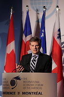 Montreal, CANADA, June, 2015  File Photo<br /> <br /> Benoit Daignault<br /> 'president and CEO, Export, development Canada (EDC)<br /> , attend the The International Economic Forum of the Americas<br /> <br /> Photo :   Pierre Roussel - AQP