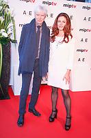 Philippe Duclos et Anne Landois - RED CARPET POUR L'OUVERTURE DU MIPTV 2017 A L'HOTEL MARTINEZ - CANNES, FRANCE - LUNDI 3 AVRIL 2017.