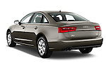 Rear three quarter view of a 2014 Audi A6 AVUS 4 Door Sedan 2WD