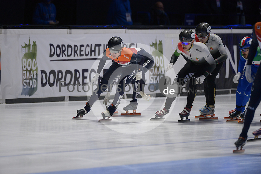SPEEDSKATING: DORDRECHT: 07-03-2021, ISU World Short Track Speedskating Championships, Final A 5000m Relay, Jens van 't Wout (NED), ©photo Martin de Jong