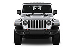 Car photography straight front view of a 2018 Jeep Wrangler-Unlimited Rubicon 5 Door SUV