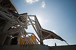 Construccion del Biomuseo de Panama. Primer edificio diseñado por Frank Gehry en America Latina. Panama, ..13 de enero de 2012. (Victoria  Murillo/ Istmophoto)