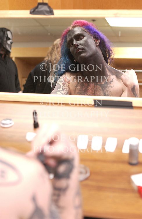 Corey gets his make up applied.
