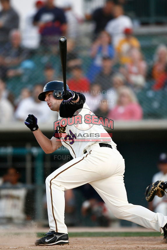 May 19  2007: Scott White of the Lancaster JetHawks bats against the Lake Elsinore Storm at Clear Channel Stadium in Lancaster,CA.  Photo by Larry Goren/Four Seam Images