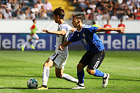 Daichi Kamada (Eintracht Frankfurt) gegen Andrej Markovic (FSV Frankfurt) - 06.08.2017: Eintracht Frankfurt vs. FSV Frankfurt, Saisoneröffnung, Commerzbank Arena