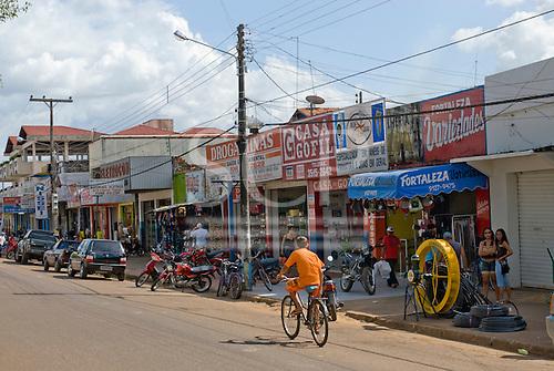 Pará State, Brazil. Altamira. Street scene.
