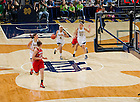 Feb 11, 2013; Skylar Diggins (4) dribbles in the second half against the Louisville Cardinals at the Purcell Pavilion. Notre Dame won 93-64. ..Photo by Matt Cashore/University of Notre Dame