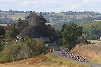11th September 2020; Chatel-Guyon to Puy Marie Cantal, France;  Illustration picture of the peloton during stage 13 of the 107th edition of the 2020 Tour de France cycling race, a stage of 191,5 km with start in Chatel-Guyon and finish in Puy Marie Cantal on September 11, 2020