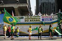 07.09.2020 - Ato em apoio ao presidente Jair Bolsonaro em SP