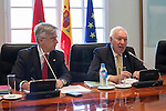 Spanish Minister of Foreign Affairs, José Manuel Garcia-Margallo, during Morocco's Prime Minister Abdelilah Benkirane welcome ceremony at the Moncloa Palace in Madrid, Spain. June 05, 2015. (ALTERPHOTOS/Victor Blanco)