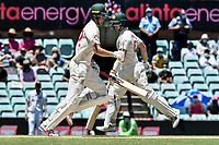 10th January 2021; Sydney Cricket Ground, Sydney, New South Wales, Australia; International Test Cricket, Third Test Day Four, Australia versus India; Cameron Green of Australia crosses the wicket in front of Steve Smith of Australia