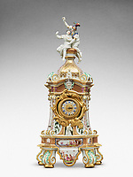 BNPS.co.uk (01202 558833)<br /> Pic: Sotheby's/BNPS<br /> <br /> Pictured: A Meissen mantel clock case. It is estimated at £300,000.<br /> <br /> A £2m collection of Meissen porcelain that was seized by the Nazis before it was discovered by the Allied 'Monuments Men' at the end of the war is coming up for sale.<br /> <br /> The stunning hoard of Dresden antiques was acquired by industrialist Dr Franz Oppenheimer and his wife Margarethe during the 1920s and 30s'.<br /> <br /> The Jewish couple fled their home in Berlin as the Nazis began persecuting Jewish people in Germany.<br /> <br /> They emigrated to the US but not before they sold off their fabulous figurines and ornaments for bargain prices to stop them falling into the hands of the Nazi