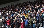 Raith Rovers v St Johnstone....08.03.14    Scottish Cup Quarter Final<br /> Saints fans applaud<br /> Picture by Graeme Hart.<br /> Copyright Perthshire Picture Agency<br /> Tel: 01738 623350  Mobile: 07990 594431