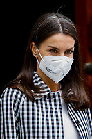MADRID, SPAIN - April 27: **NO SPAIN** Queen Letizia of Spain attends a Working meeting of the Fundación del Español Urgente 'FundeuRAE' at Royal Spanish Academy on April 27, 2021 in Madrid, Spain. <br /> CAP/MPI/RJO<br /> ©RJO/MPI/Capital Pictures
