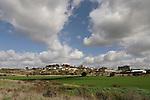 Israel, the Shephelah. Moshav Tzafririm as seen from Hurbat Midras