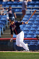 Binghamton Mets catcher Colton Plaia (26) at bat during a game against the Richmond Flying Squirrels on June 26, 2016 at NYSEG Stadium in Binghamton, New York.  Binghamton defeated Richmond 7-2.  (Mike Janes/Four Seam Images)