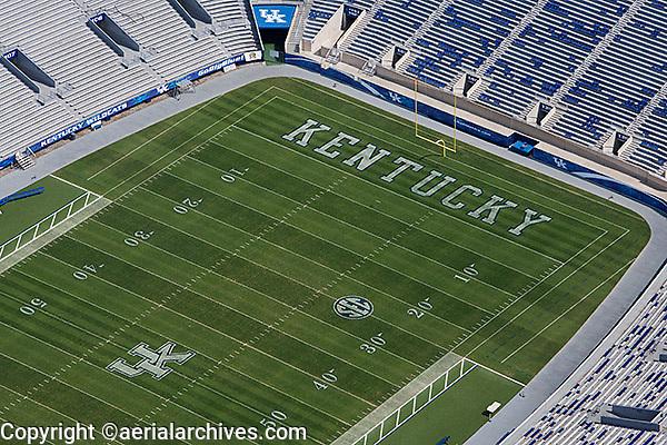 aerial photograph,Commonwealth Stadium, University of Kentucky,Lexington, Kentucky