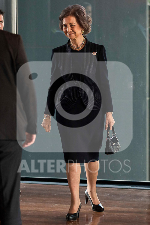 Queen Sofia attends to the act of imposition of the great cross of the civil order of Alfonso X el Sabio to D. Francisco Luzon Lopez at Reina Sofia Museum in Madrid. March 13, 2017. (ALTERPHOTOS/Borja B.Hojas)